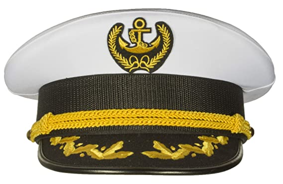 c8f2e1522 Deluxe Men's Captain Skipper Yacht Hat, Sizes 57-60 cm, Commercial Quality