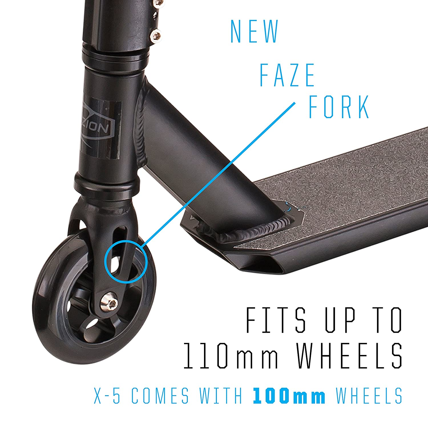 Fuzion X-5 Pro Scooters - Trick Scooter - Beginner Stunt Scooters for Kids 8 Years and Up – Quality Freestyle Kick Scooter for Boys and Girls