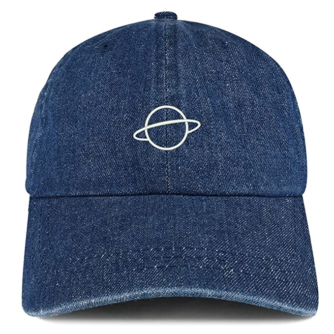 ae2e303bb Trendy Apparel Shop Planet Embroidered 100% Cotton Denim Cap Dad Hat ...