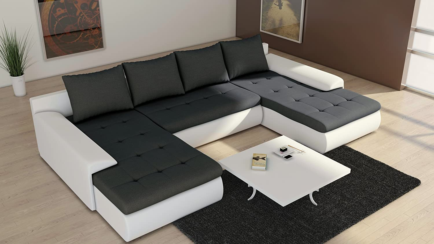 Eckcouch u form  Sofa Couchgarnitur Couch Sofagarnitur FUTURE 2.1 U Polstergarnitur ...