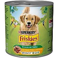 Purina Friskies Trozos en Salsa Perro Adulto Buey, Pollo y Verduras 800 g, Paquete de 12