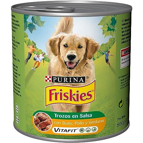 Purina Friskies Trozos en Salsa Perro Adulto Buey, Pollo y Verduras 12 x 800 g