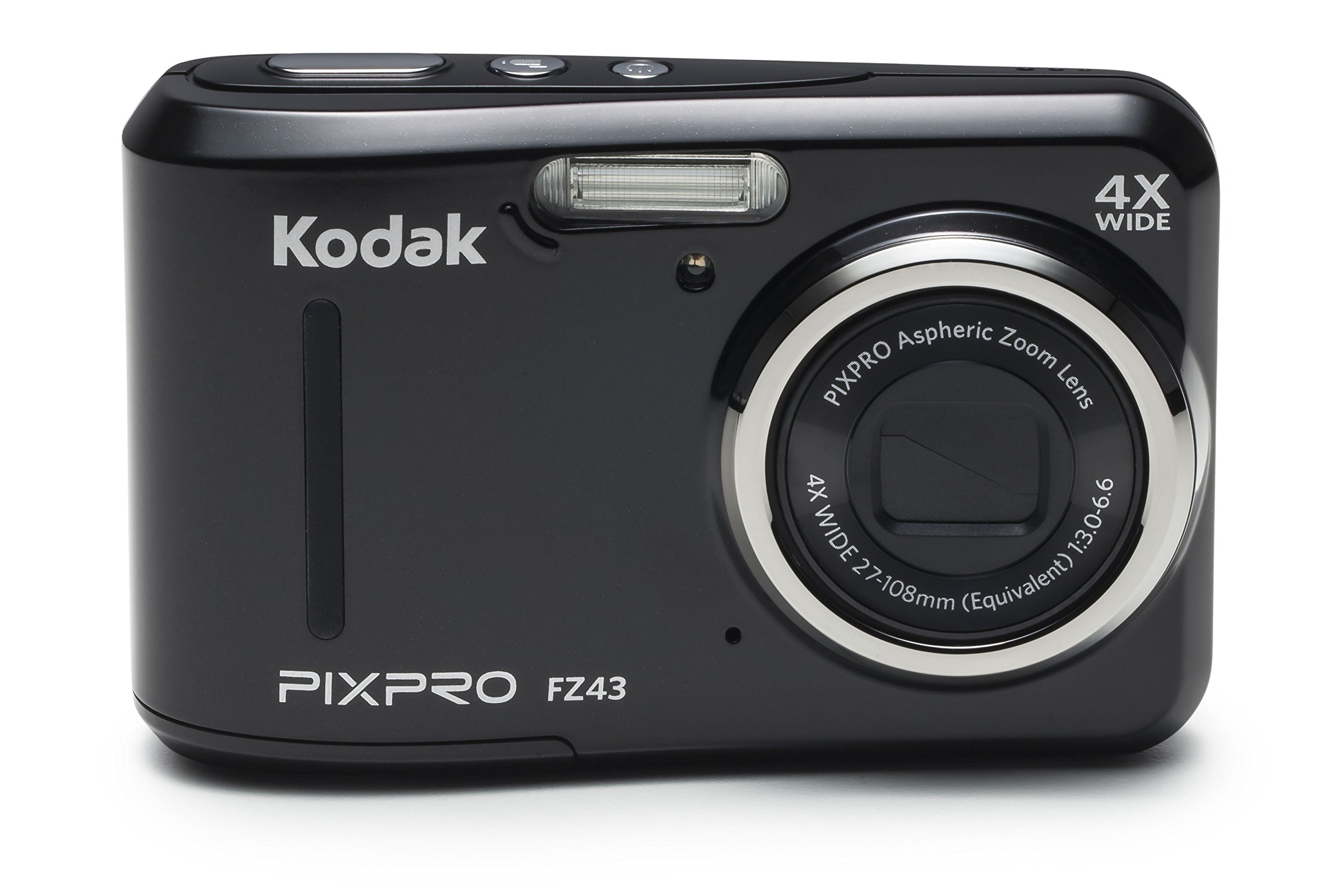 Kodak PIXPRO Friendly Zoom FZ43 16 MP Digital Camera with 4X Optical Zoom and 2.7'' LCD Screen (Black)