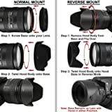Shopee 55mm Reversible Lens Hood For Nikon D5600, D3400 Dslr Camera With Nikon 18-55Mm F/3.5-5.6G Vr Af-P Dx And Nikon 70-300Mm F/4.5-6.3G Ed
