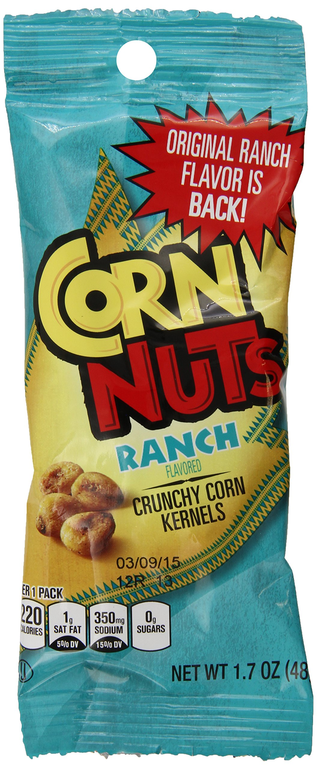 Corn Nuts Ranch Crunchy Snack Mix (1.7oz Bags, Pack of 36) by Cornnuts (Image #1)