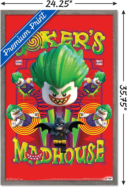 Trends International Lego Batman - Madhouse Wall Poster, 22.375