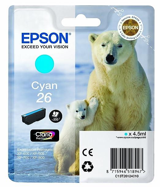 228 opinioni per Epson 26 Serie Orso Polare Cartuccia Originale, Standard, Ciano