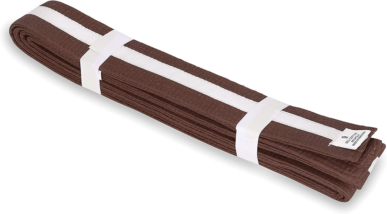 "Tang Soo Do 2/"" Black Master Belt //w Red Stripe Size 5 Karate Double wrap 112/"""