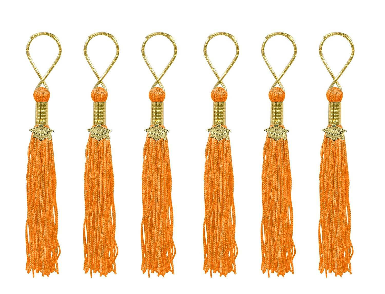 6-Pack Orange Beistle TS10 Tasseled Key Chains