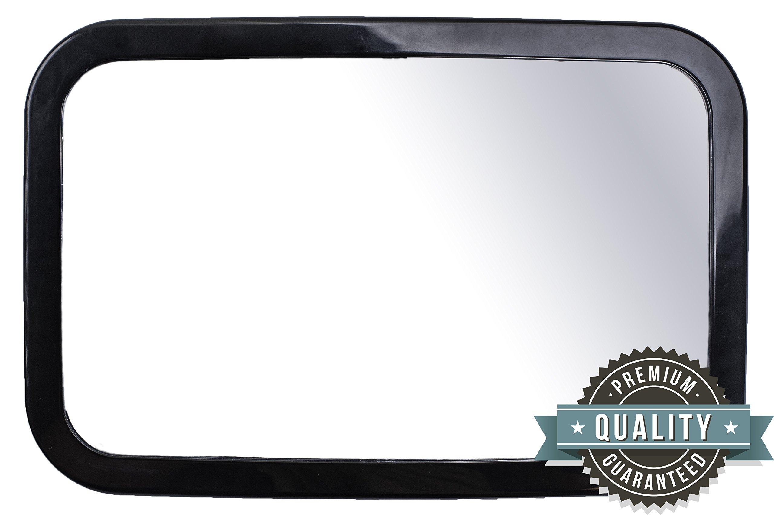 Greyjoy Baby Rear Seat Car Mirror, Black, 11.5 x 0.8 x 7.5 Inch
