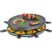 Clatronic RG 3517 Raclette Grill para 8 Personas, 1400 W
