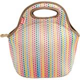 BUILT 5158476 Gourmet Getaway Soft Neoprene Lunch Tote Bag-Lightweight, Insulated and Reusable, Candy Dot