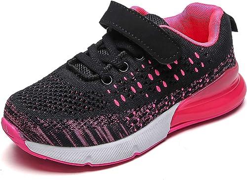 Gar/çon Chaussures de Basketball Mixte Enfant Fille Baskets Mode Sneakers 36 EU 1-rouge