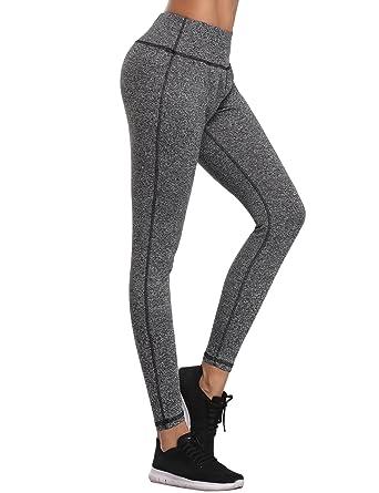 caa4446fb554 Aibrou Damen Leggings Lang Sport Yoga Hose Stretch Trainingshose  Amazon.de   Bekleidung