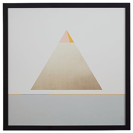 Amazon.com: Rivet Modern Gold Pyramid Triangle Print, 30\