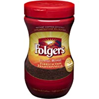Folgers Classic Roast Instant Coffee Crystals, 200 Grams, Coffee, 200 Grams