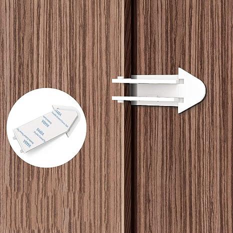 Frisch - Bloqueo de puerta corredera de seguridad a prueba de niños con cerradura de cristal para
