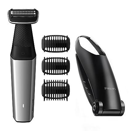 PHILIPS Bodygroom Serie 5000 Afeitadora corporal con accesorio para  depilación de la espalda 43006bf6580c