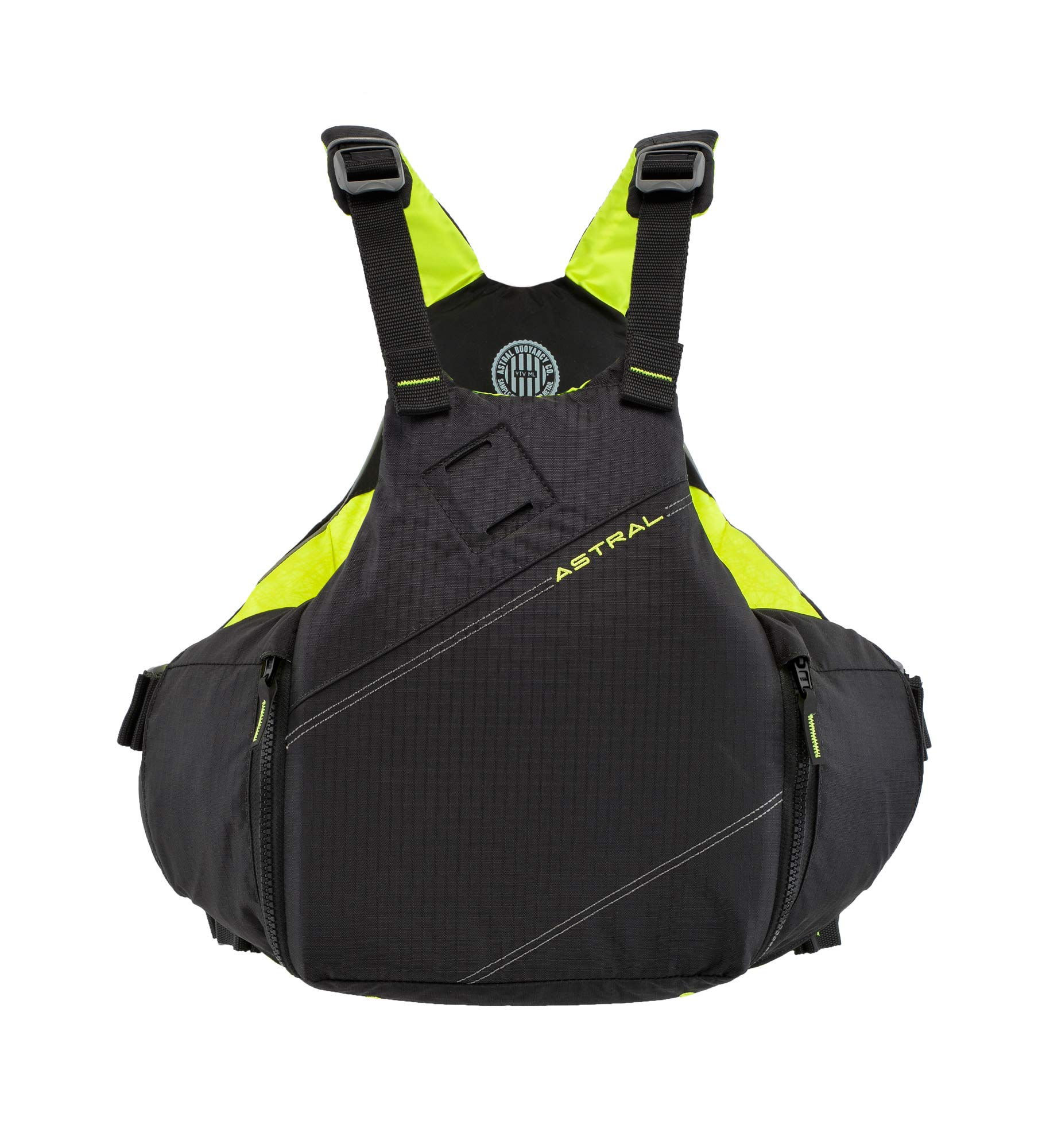 Astral YTV Life Jacket PFD for Whitewater, Touring Kayaking, Sailing and Stand Up Paddle Boarding, Slate Black, Large/X-Large by Astral