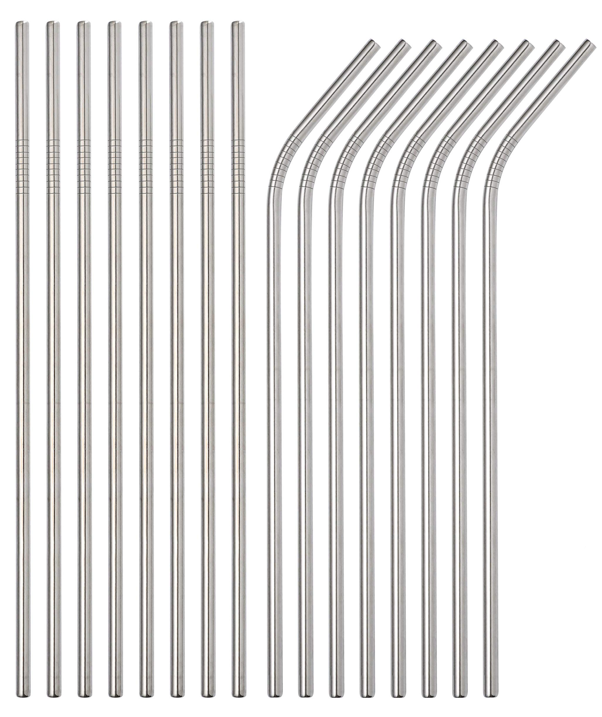 Sunwinc Stainless Steel Straws, 400 Pcs Reusable Metal Straws.For Tumblers Yeti Cups Travel Mugs,Reusable Rustproof Eco-Friendly Dishwasher