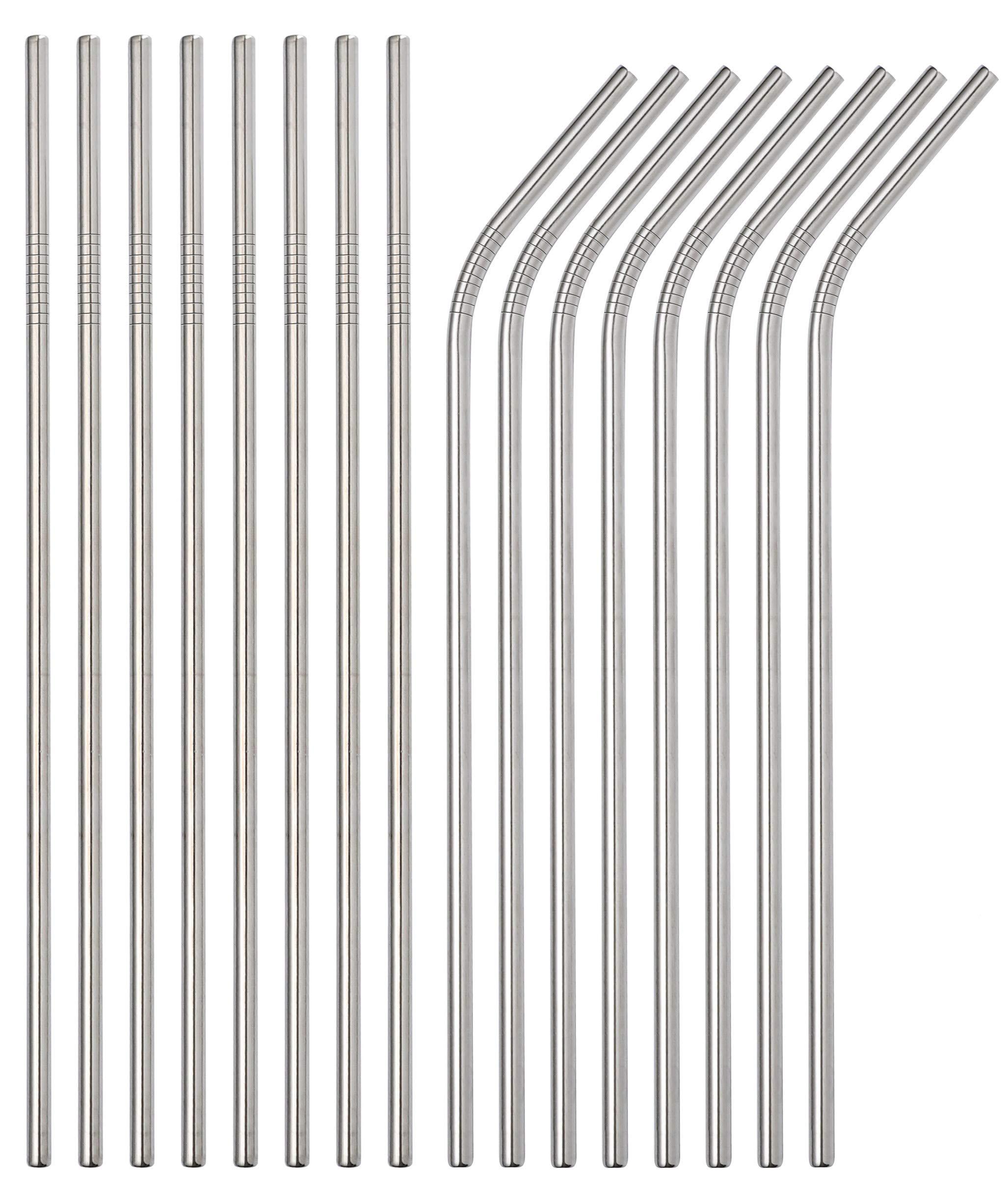 Sunwinc Stainless Steel Straws, 400 Pcs Reusable Metal Straws.For Tumblers Yeti Cups Travel Mugs,Reusable Rustproof Eco-Friendly Dishwasher by Sunwinc (Image #1)
