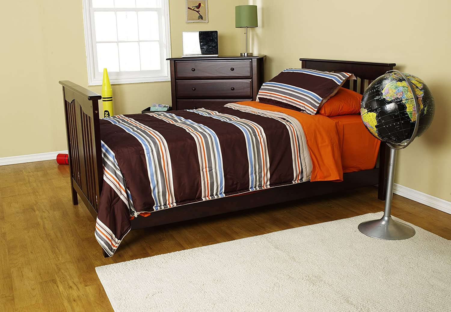 amazoncom davinci hidden hardware full size bed conversion kit espresso baby