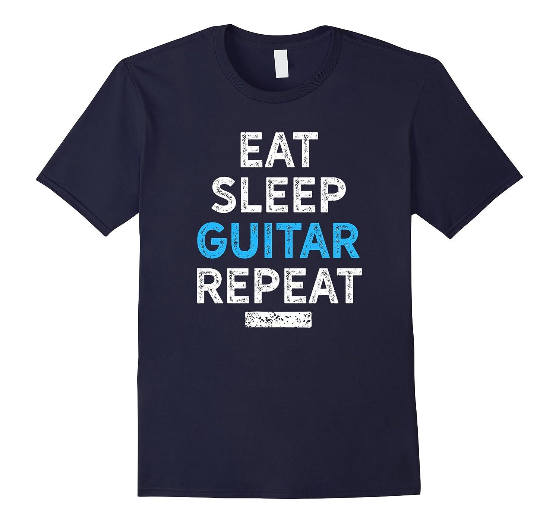 Eat Sleep Guitar Repeat Shirt for Musicians, Cool Gift-FL