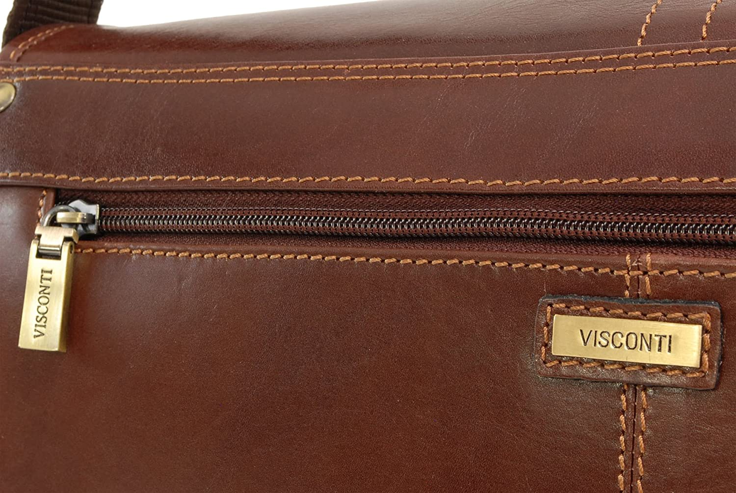 27c8ee80b60 Visconti Vegetable Tanned Leather Messenger Bag A4 - Workplace - VT7 - Aldo   Amazon.co.uk  Shoes   Bags