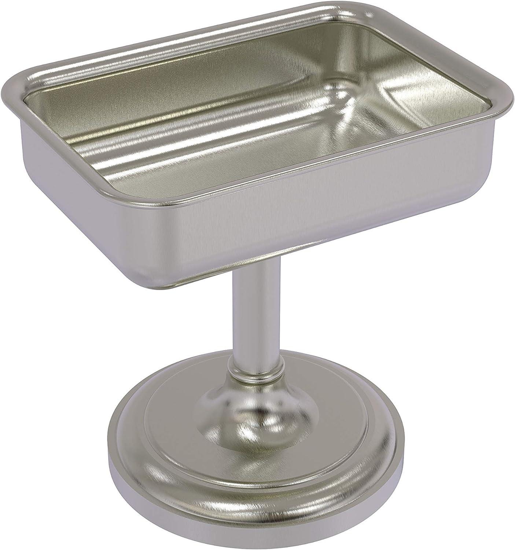 discount Allied Brass S-56 Vanity Top Dish Nickel Sale price Soap Satin