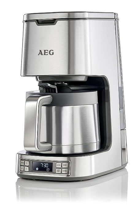 AEG KF7900 Cafetera con capacidad para 10 tazas, inicio automático 24 horas, selector de