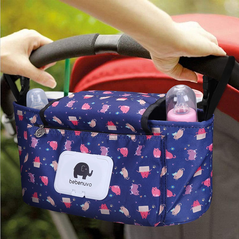 Pram Buggy Stroller Food Holder Pushchair Cup Bottle Organiser Storage Bag RU