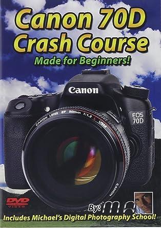 Amazon com: Canon 70D Crash Course Training Tutorial DVD   Made for
