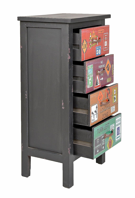 ts-ideen Mobiletto Cassettiera stile Industriale 41x80 cm color ...