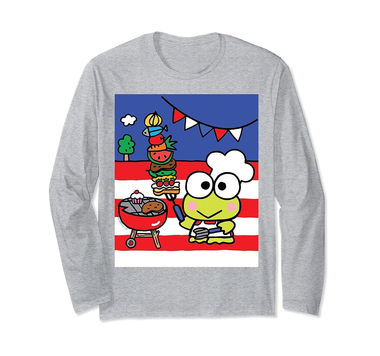 0f1ffeb3d3ba Amazon.com  Keroppi Summertime BBQ Long Sleeve Shirt  Clothing