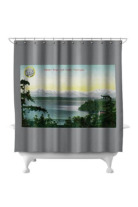 Amazon Olympic Range From Seattle WA 71x74 Polyester Shower