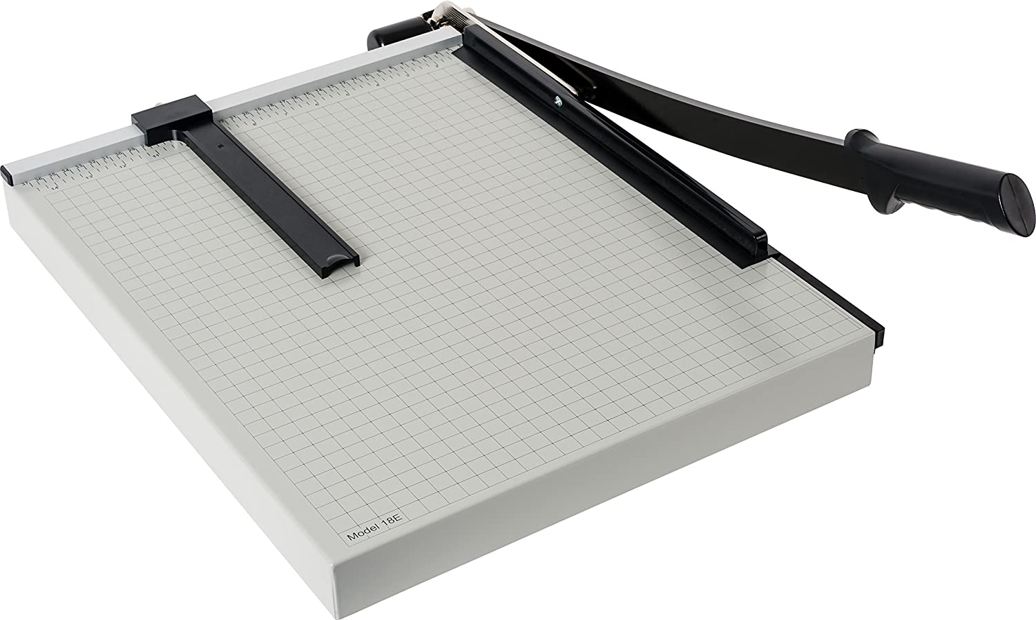"Dahle 18e Vantage Paper Trimmer, 18"" Cut Length, 15 Sheet, Automatic Clamp, Adjustable Guide, Metal Base with 1/2"" Gridlines, Guillotine Paper Cutter - 40018-12568"