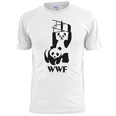 d14da1cd3bd31c WWF Panda Wrestling Spoof Mens T Shirt  Amazon.co.uk  Clothing