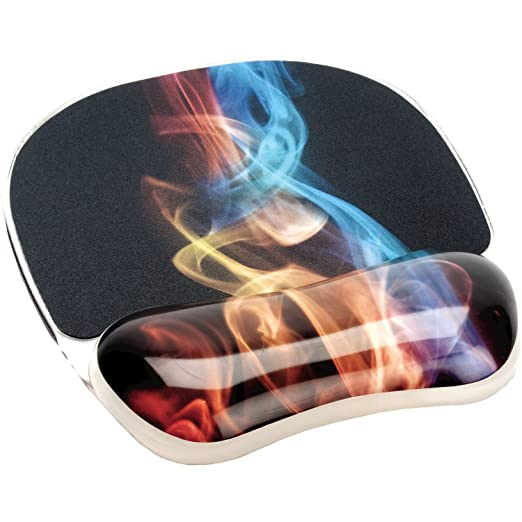 71 opinioni per Fellowes Mouse Pad con Poggiapolsi Photo Gel, Fumo Arcobaleno