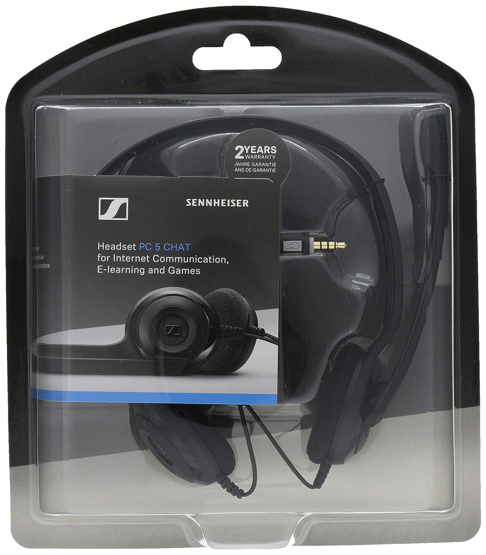 30497172b8d Sennheiser PC 5 Chat Wired Headphone - Black: Amazon.co.uk: Electronics