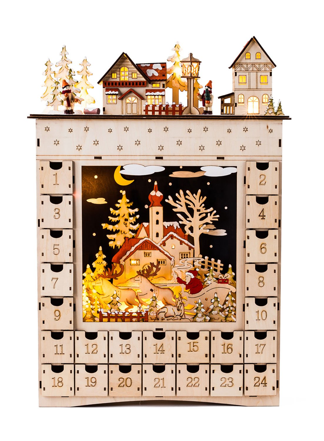 One Hundred 80 Degrees Bavarian Scene Lighted Advent Calendar by One Hundred 80 Degrees