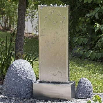 Köhko® Wasserwand 23001 aus Edelstahl Wasserspiel ca. 97 cm Höhe mit ...