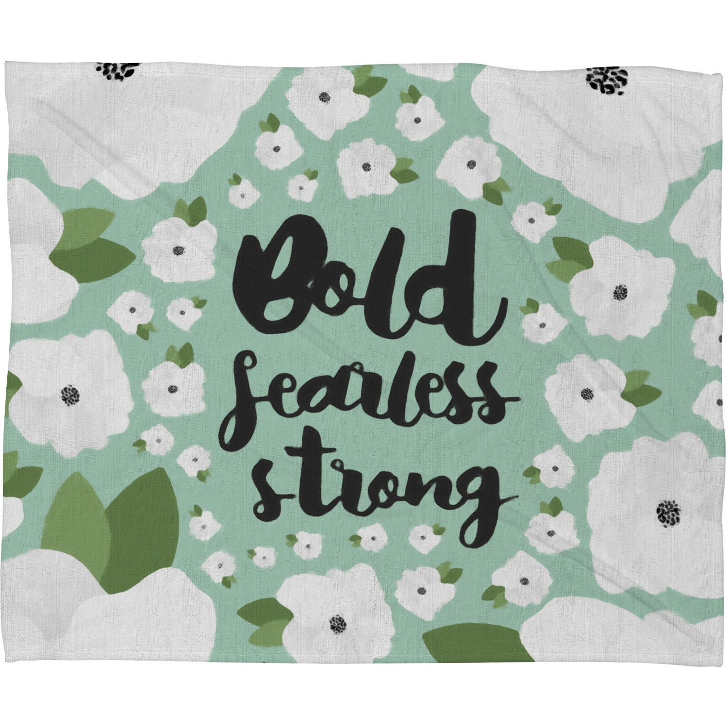 Deny Designs Allyson Johnson Fleece Blanket Floral You are Beautiful