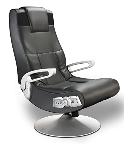 X Rocker 5127401 Pedestal Vide Gaming Chair, Wireless, Black