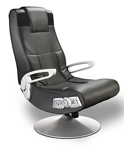 Astounding X Rocker Se 2 1 Black Leather Video Gaming Chair For Adult Teen And Kid Gamers With Pedestal Base Armrest And Headrest High Tech Audio And Inzonedesignstudio Interior Chair Design Inzonedesignstudiocom