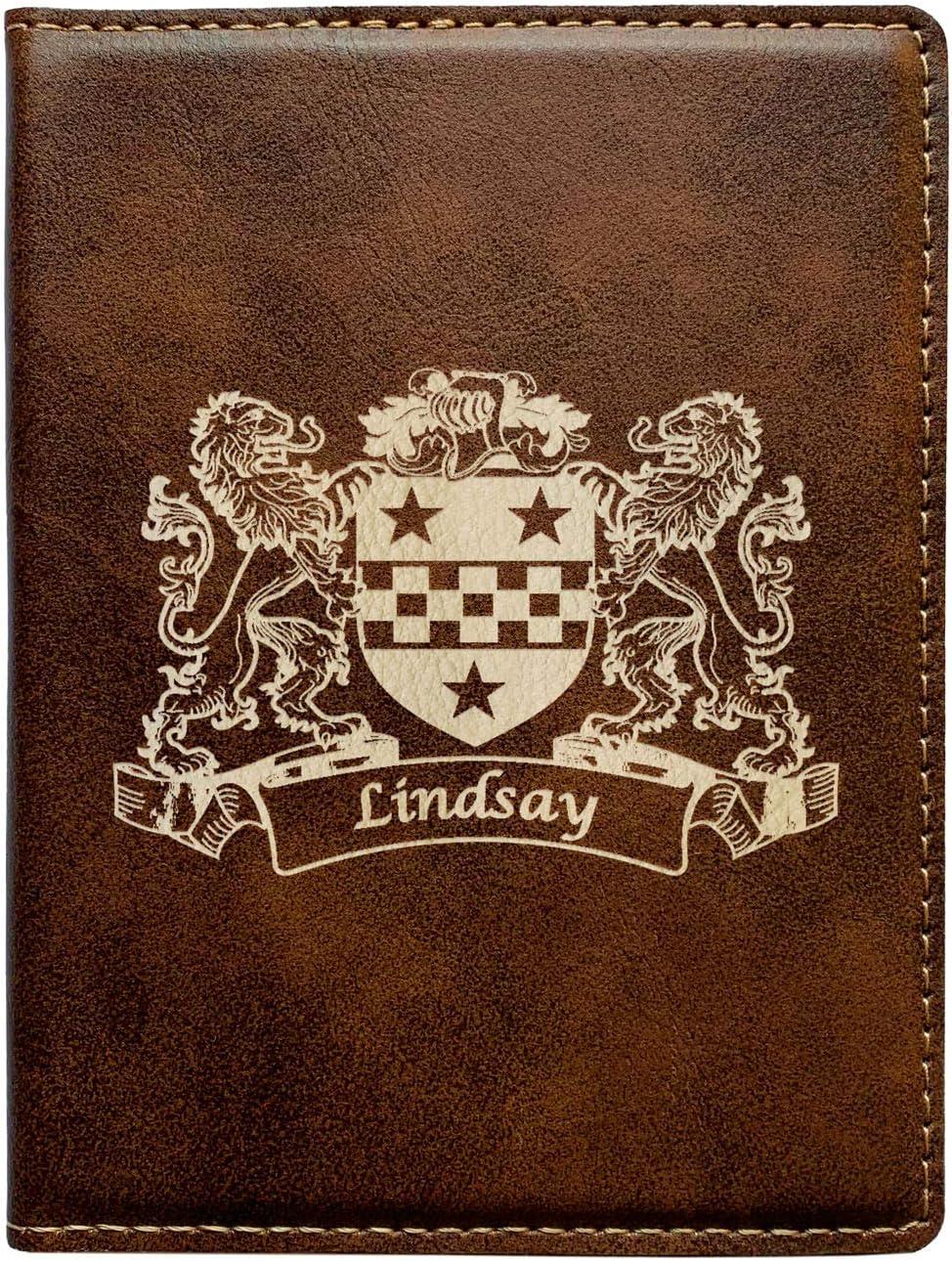 Lindsay Irish Coat of Arms Leather Passport Wallet