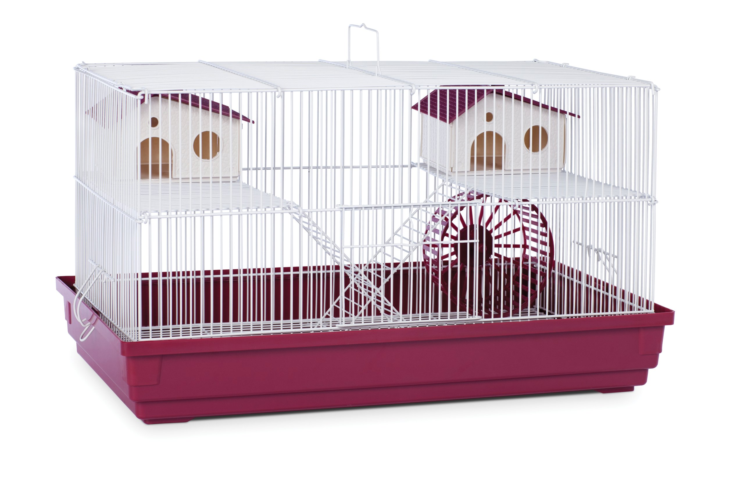 Prevue Hendryx SP2060R Deluxe Hamster and Gerbil Cage, Bordeaux Red by Prevue Hendryx