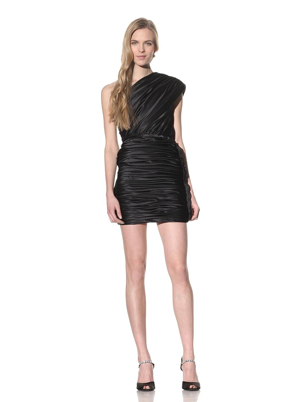 Camilla and Marc Womens Skipperling Shirred Satin One-Shoulder Dress