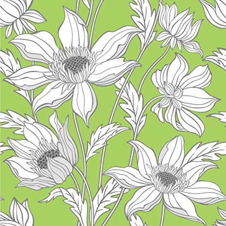 RNK Shops Wild Daisies Wallpaper Surface Covering Peel Stick 24quot