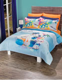 PUPPY DOG TEENS GIRLS CHIC COMFORTER SET 2 PCS TWIN SIZE