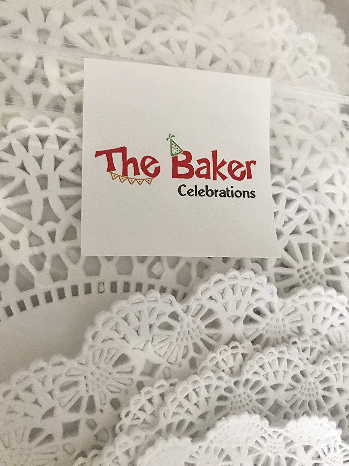 Round paper Lace Table Doilies – 4, 5, 6, 8, 10 and 12 inch Assorted Sizes; White Decorative Tableware papers Placemats, (Variety pack of 120 – 20 of each) by The Baker Celebrations (Image #3)